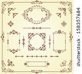 Vector swirl ornate motifs and borders. Elements can be ungrouped for editing.