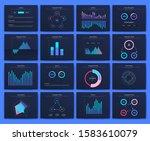 big set of infographics... | Shutterstock .eps vector #1583610079