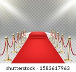 red carpet event with three... | Shutterstock .eps vector #1583617963