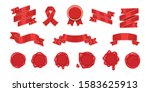 red ribbons and cartoon red old ... | Shutterstock .eps vector #1583625913