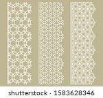 vector set of line borders with ... | Shutterstock .eps vector #1583628346