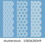 vector set of line borders with ... | Shutterstock .eps vector #1583628349