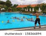 aqua gym  aerobics   fitness... | Shutterstock . vector #158366894