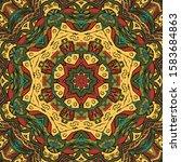 seamless tracery tile mehndi... | Shutterstock .eps vector #1583684863
