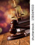 mallet  legal code and scales... | Shutterstock . vector #158369033