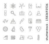 set of 25 vector line icons ... | Shutterstock .eps vector #1583693536