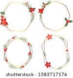 vector christmas holiday... | Shutterstock .eps vector #1583717176