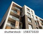 residental building on sky...   Shutterstock . vector #158373320