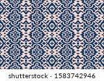 lace border. ikat seamless... | Shutterstock .eps vector #1583742946