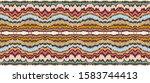 ikat border. geometric folk... | Shutterstock .eps vector #1583744413