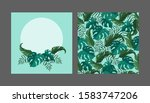 set of templates for postcards...   Shutterstock .eps vector #1583747206