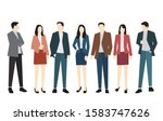 set of silhouettes of men and... | Shutterstock .eps vector #1583747626
