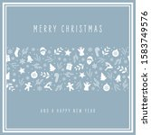 christmas icon card elements... | Shutterstock .eps vector #1583749576