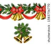 vector christmas border... | Shutterstock .eps vector #1583756770