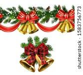 vector christmas border... | Shutterstock .eps vector #1583756773