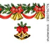 vector christmas border... | Shutterstock .eps vector #1583756776
