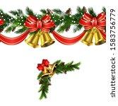 vector christmas border... | Shutterstock .eps vector #1583756779
