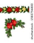 vector christmas border... | Shutterstock .eps vector #1583756800
