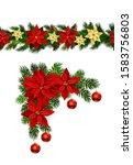 vector christmas border... | Shutterstock .eps vector #1583756803