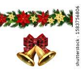 vector christmas border... | Shutterstock .eps vector #1583756806