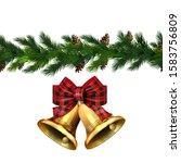 vector christmas border... | Shutterstock .eps vector #1583756809