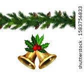 vector christmas border... | Shutterstock .eps vector #1583756833