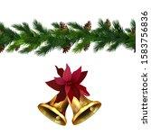 vector christmas border... | Shutterstock .eps vector #1583756836