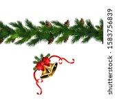 vector christmas border... | Shutterstock .eps vector #1583756839