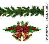 vector christmas border... | Shutterstock .eps vector #1583756860