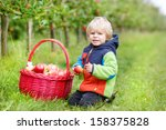 little toddler boy of two years ... | Shutterstock . vector #158375828