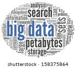 big data concept in word tag...   Shutterstock . vector #158375864