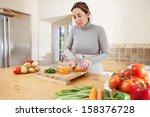attractive mature woman... | Shutterstock . vector #158376728