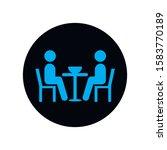 couple in restaurant flat...   Shutterstock .eps vector #1583770189