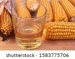 Tumbler Glass With Burbon...
