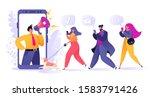 refer a friend  influencer ... | Shutterstock .eps vector #1583791426
