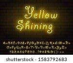 yellow vintage shining neon... | Shutterstock .eps vector #1583792683