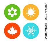 four seasons icons. spring ... | Shutterstock .eps vector #1583795380