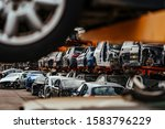 Damaged Cars Waiting In A...