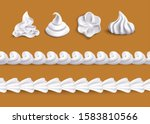 whipped cream swirl shape... | Shutterstock .eps vector #1583810566