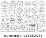 calligraphic design elements .... | Shutterstock .eps vector #1583819383