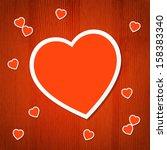 valentine's day background.... | Shutterstock .eps vector #158383340