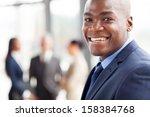 portrait of happy african... | Shutterstock . vector #158384768