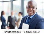 young african corporate worker... | Shutterstock . vector #158384810