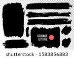 vector set of hand drawn brush... | Shutterstock .eps vector #1583856883