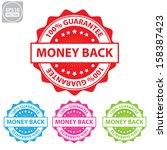 vector   money back colorful... | Shutterstock .eps vector #158387423