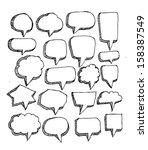speech bubble sketch hand drawn | Shutterstock .eps vector #158387549