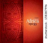 african background design... | Shutterstock .eps vector #158387996