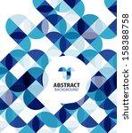 blue circles geometrical... | Shutterstock .eps vector #158388758