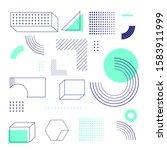 universal trend halftone... | Shutterstock .eps vector #1583911999