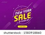 new year sale discount banner... | Shutterstock .eps vector #1583918860